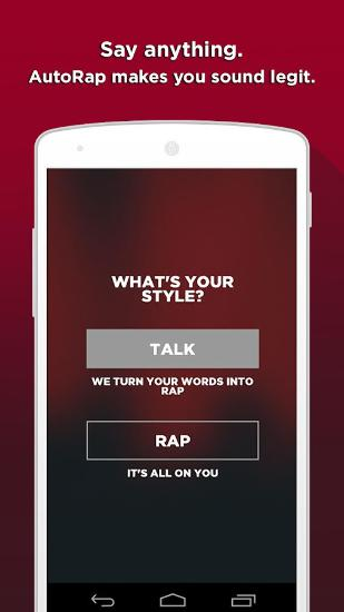 Auto Rap app for Android, download programs for phones and tablets for free.