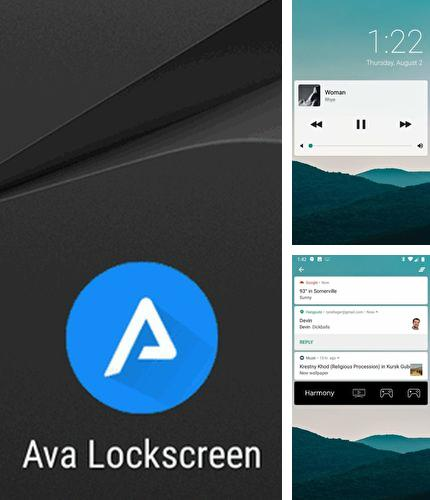 Besides QR droid: Code scanner Android program you can download Ava lockscreen for Android phone or tablet for free.