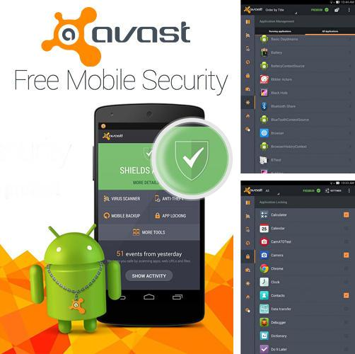 Besides Sense v2 flip clock and weather Android program you can download Avast: Mobile security for Android phone or tablet for free.