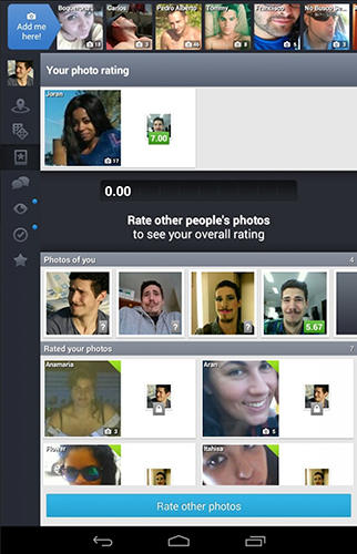 Screenshots of Badoo program for Android phone or tablet.