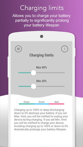 Battery Lifespan Extender app for Android, download programs for phones and tablets for free.