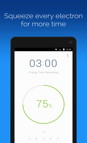 Screenshots des Programms Battery Time Saver And Optimizer für Android-Smartphones oder Tablets.