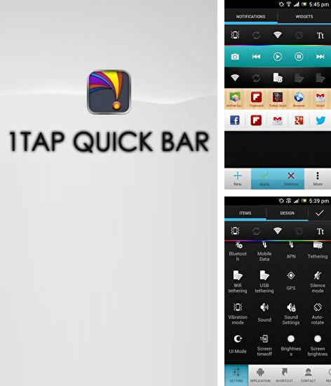 Besides Norton Security: Antivirus Android program you can download 1Tap: Quick Bar for Android phone or tablet for free.