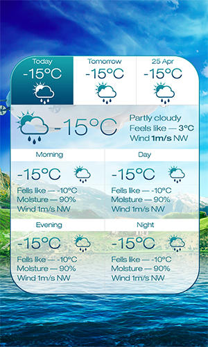 Baixar grátis Beautiful seasons weather para Android. Programas para celulares e tablets.