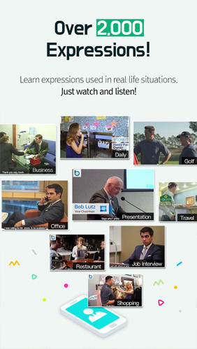 Screenshots of BeNative: Speakers program for Android phone or tablet.