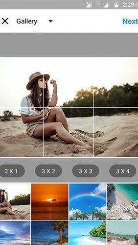 Capturas de pantalla del programa Best hashtags captions & photosaver for Instagram para teléfono o tableta Android.