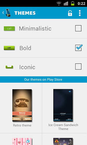 Screenshots of CM launcher program for Android phone or tablet.