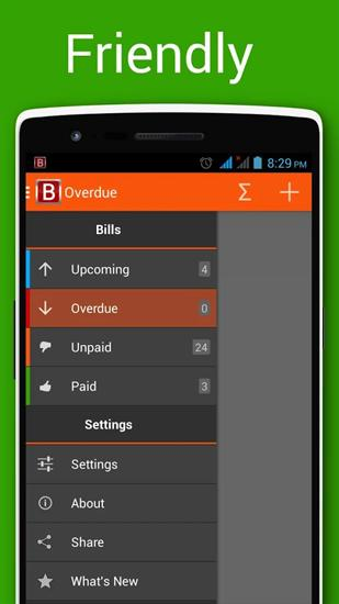 Bills Reminder app for Android, download programs for phones and tablets for free.