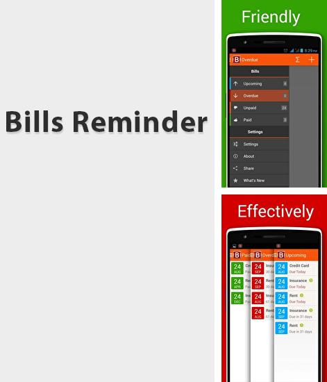 Download Bills Reminder for Android phones and tablets.