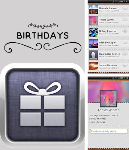 Download Birthdays for Android phones and tablets.