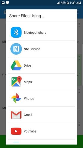 Screenshots of Bluetooth app sender APK share program for Android phone or tablet.