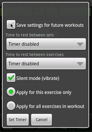 Screenshots of Bodybuilder program for Android phone or tablet.