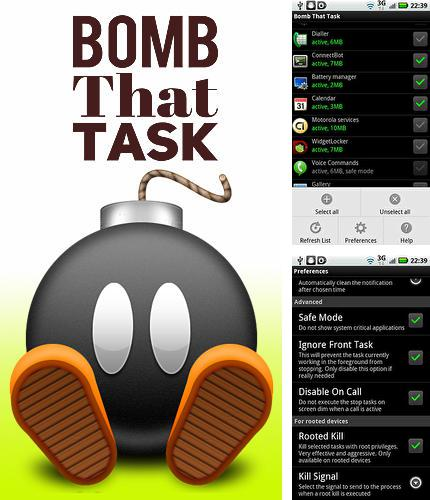 Besides QuickLyric - Instant lyrics Android program you can download Bomb that task for Android phone or tablet for free.