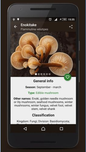 Download Book of mushrooms for Android for free. Apps for phones and tablets.