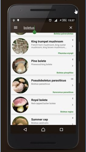Book of mushrooms app for Android, download programs for phones and tablets for free.