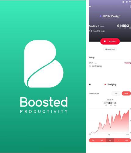 Descargar gratis Boosted - Productivity & Time tracker para Android. Apps para teléfonos y tabletas.