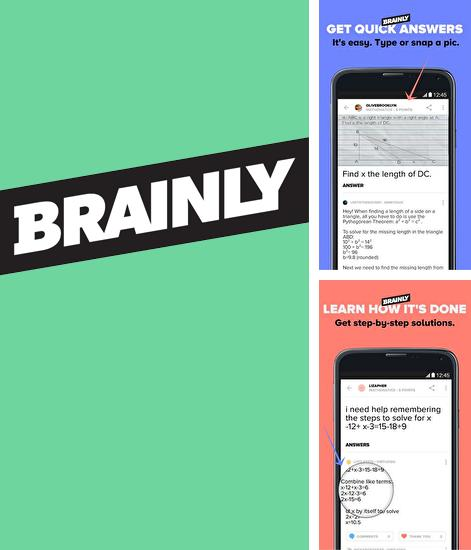 Besides Camera translator Android program you can download Brainly: Study for Android phone or tablet for free.