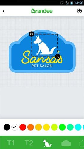 Screenshots of Brandee - Free logo maker & graphics creator program for Android phone or tablet.