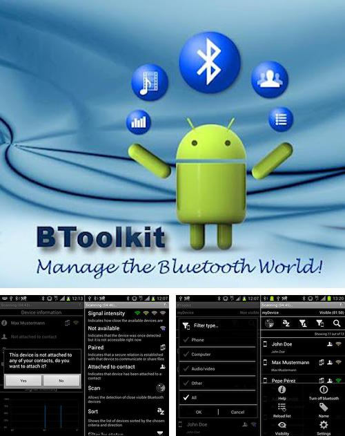 除了ESET: Mobile Security Android程序可以下载BToolkit: Bluetooth manager的Andr​​oid手机或平板电脑是免费的。