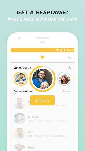 Capturas de pantalla del programa Bumble - Date, meet friends, network para teléfono o tableta Android.