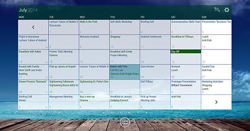Capturas de tela do programa Business calendar em celular ou tablete Android.