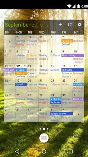 Screenshots of Business calendar 2 program for Android phone or tablet.