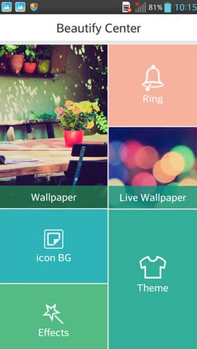Capturas de pantalla del programa C Launcher: Themes, wallpapers, DIY, smart, clean para teléfono o tableta Android.