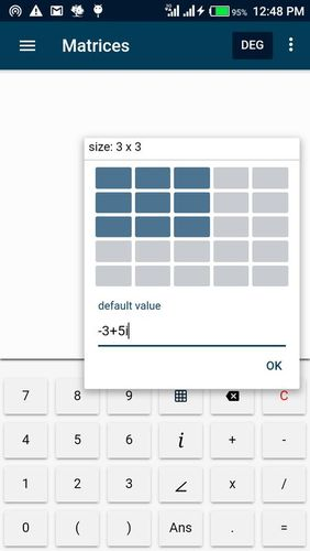 Screenshots of CalcEn: Complex calculator program for Android phone or tablet.