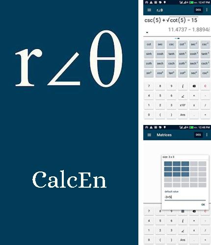 Download CalcEn: Complex calculator for Android phones and tablets.