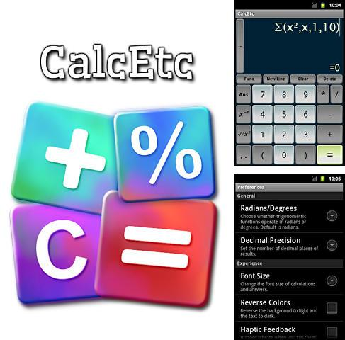 Besides Shapical X Android program you can download Calc etc for Android phone or tablet for free.