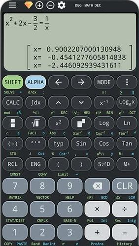 Capturas de pantalla del programa Calculus calculator & Solve for x ti-36 ti-84 plus para teléfono o tableta Android.