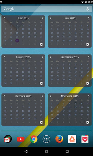 Calendar widget app for Android, download programs for phones and tablets for free.