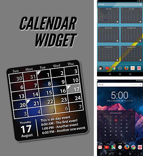 Besides Camera translator Android program you can download Calendar widget for Android phone or tablet for free.