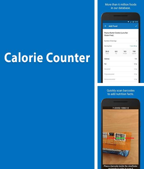 Besides DSLR controller Android program you can download Calorie Counter for Android phone or tablet for free.