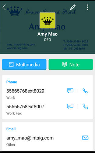 Cam card: Business card reader app for Android, download programs for phones and tablets for free.