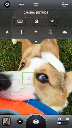 Les captures d'écran du programme Camera awesome pour le portable ou la tablette Android.