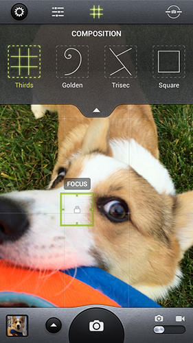 Screenshots des Programms Camera awesome für Android-Smartphones oder Tablets.