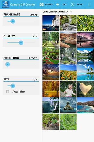 Camera Gif creator app for Android, download programs for phones and tablets for free.