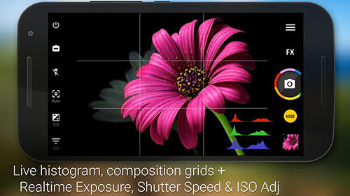 Screenshots des Programms Camera zoom FX für Android-Smartphones oder Tablets.