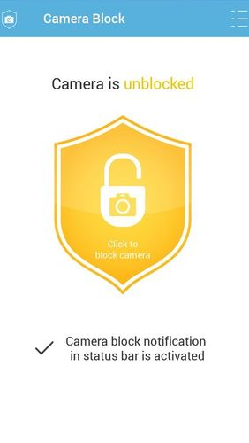 Camera block - Anti spyware & Anti malware app for Android, download programs for phones and tablets for free.