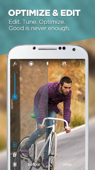 Screenshots des Programms Camera MX für Android-Smartphones oder Tablets.