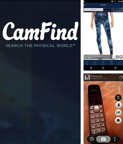 Besides Accupedo: Pedometer Android program you can download CamFind: Visual search engine for Android phone or tablet for free.