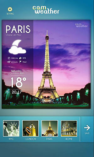 CamWeather app for Android, download programs for phones and tablets for free.