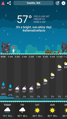 CARROT Weather app for Android, download programs for phones and tablets for free.
