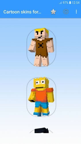 Descargar gratis Cartoon skins for Minecraft MCPE para Android. Programas para teléfonos y tabletas.