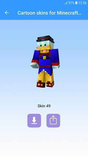 Capturas de pantalla del programa Cartoon skins for Minecraft MCPE para teléfono o tableta Android.