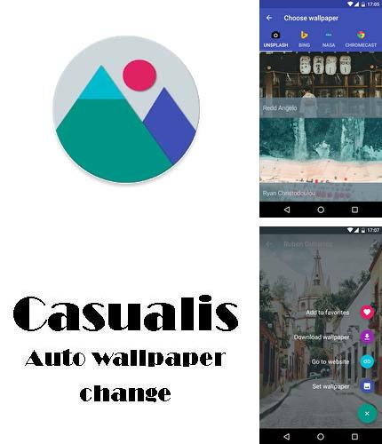Besides iPhone 5 clock Android program you can download Casualis: Auto wallpaper change for Android phone or tablet for free.