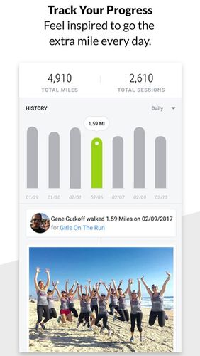 Charity Miles: Walking & running distance tracker app for Android, download programs for phones and tablets for free.