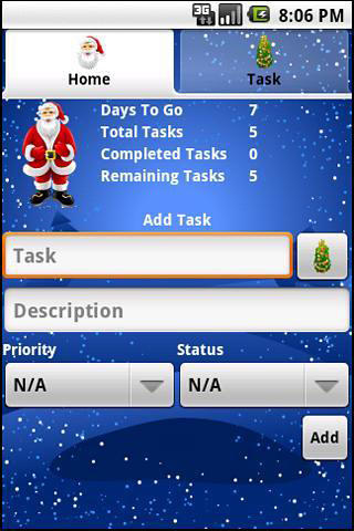 Christmas manager app for Android, download programs for phones and tablets for free.