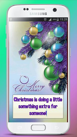 Capturas de tela do programa Christmas Greeting Cards em celular ou tablete Android.